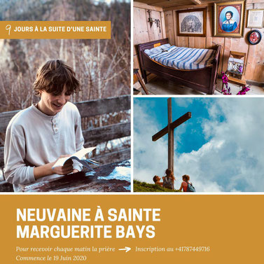 Neuvaine à sainte Marguerite Bays